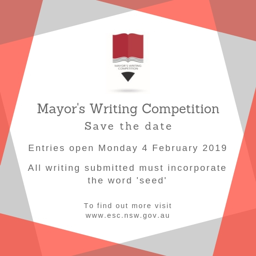 Mayors Writing Competition save the date