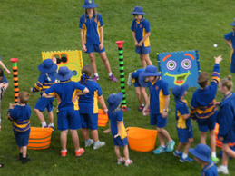 students playing outdoors