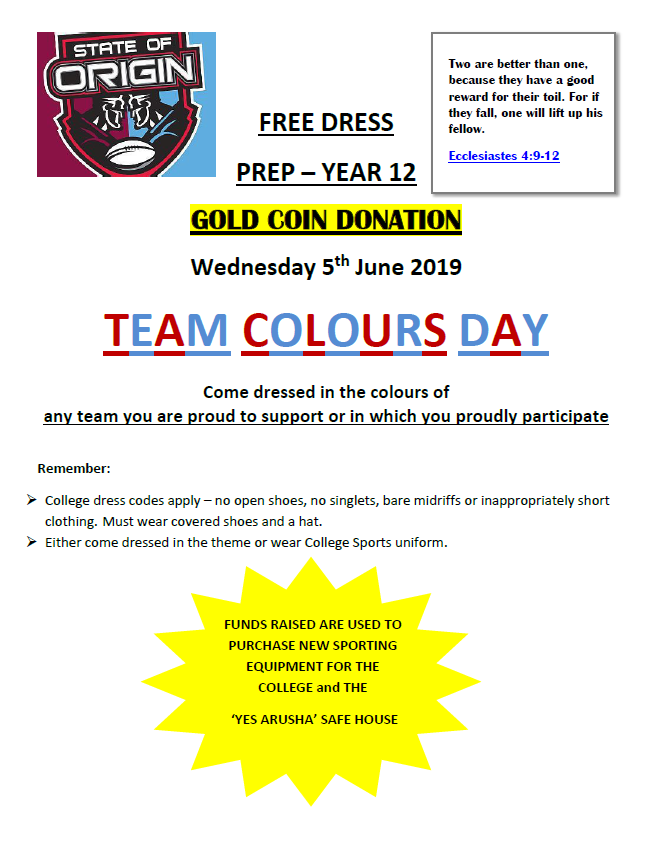 Team Colours flyer