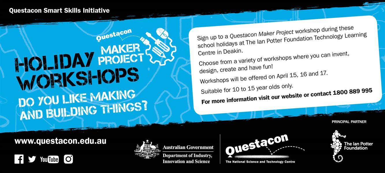 19013 Maker Project April Holiday Workshop Newsletter Graphic