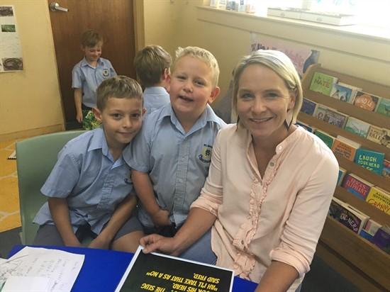 Sarah Curry and boys